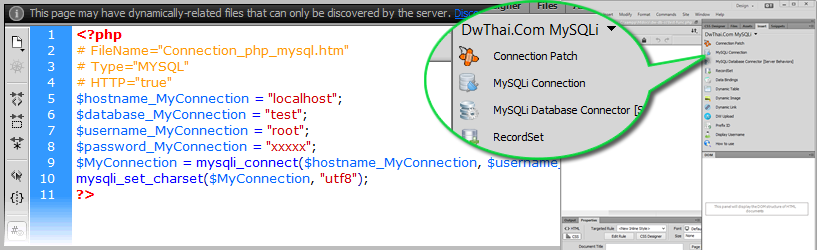 Connect Database with Dreamweaver CC